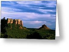 Colurt House Butte And Bell Rock Greeting Card