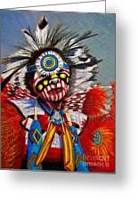 Comanche Dance Greeting Card