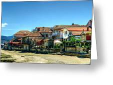 Combarro Village Waterfront Panorama Greeting Card