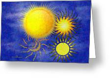 Combating Suns Greeting Card