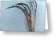 Combie Lake Reeds Greeting Card