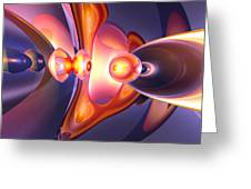 Combustion Abstract Greeting Card