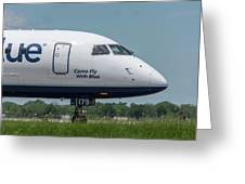 Come Fly With Blue Greeting Card