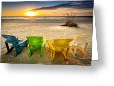 Come Relax Enjoy Greeting Card