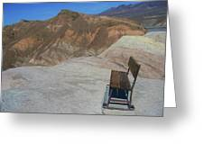 Come Sit Awhile In Death Valley Greeting Card