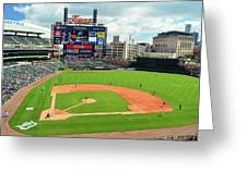 Comerica Park, Home Of The Detroit Tigers Greeting Card