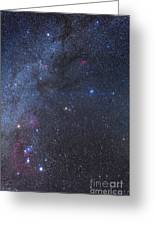 Comet Lovejoy In The Winter Sky Greeting Card