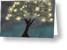 Comet Tree Greeting Card