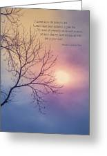 Comfort In Sorrow Greeting Card