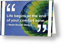 Comfort Zone Greeting Card