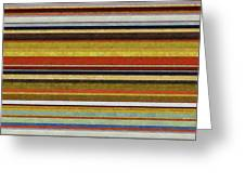 Comfortable Stripes Vl Greeting Card by Michelle Calkins