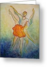 Comic Ballet Greeting Card