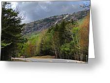 Comin Around The Bend In Campton New Hampshire Greeting Card