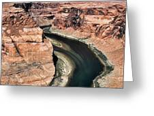 Coming Around Horseshoe Bend Page Arizona Colorado River  Greeting Card