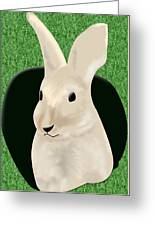 Coming Out The Rabbit Hole Greeting Card by Melissa Stinson-Borg