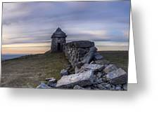 Commedagh Summit Shelter Greeting Card