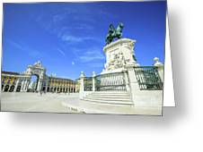 Commerce Square Lisbon Greeting Card