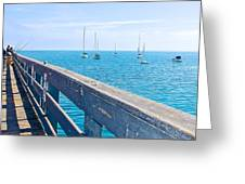 Commercial Pier On Monterey Bay-california  Greeting Card