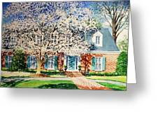 Commissioned House Portrait  Greeting Card
