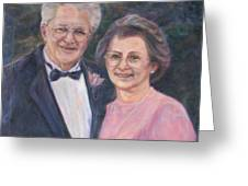 Commissioned Portrait Painting Greeting Card