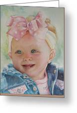 Commissioned Toddler Portrait Greeting Card