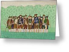 Committeemen On The Green Greeting Card
