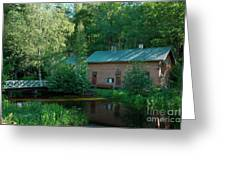 Common Sauna In The Village Greeting Card