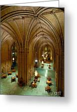 Commons Room Cathedral Of Learning - University Of Pittsburgh Greeting Card by Amy Cicconi