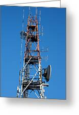Communications Tower Greeting Card
