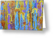 Communion Of Saints Greeting Card by Elise Ritter