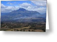 Communities Around Mount Imbabura Greeting Card