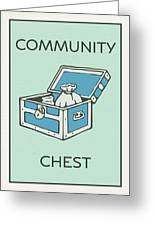 Community Chest Vintage Monopoly Board Game Theme Card Greeting Card