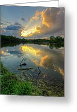 Community Lake #8 Sunset Greeting Card