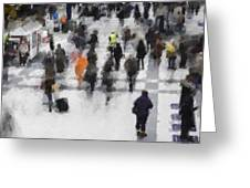 Commuter Art Abstract Greeting Card