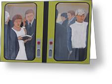 Commuters Greeting Card