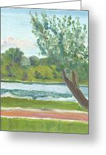 Como Lake By The Pavilion Greeting Card