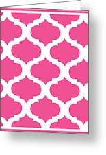 Compact Marrakesh With Border In French Pink Greeting Card