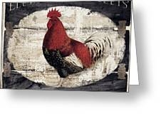 Compagne IIi Rooster Farm Greeting Card