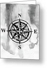 Compass-black Greeting Card