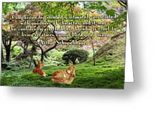Compassion And Goodness Greeting Card