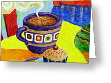 Complementary Coffee 1 Greeting Card by Paul Hilario