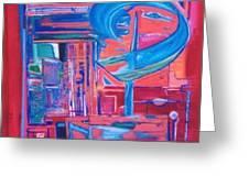 Composicion Azul Greeting Card