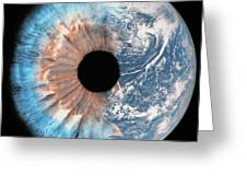 Composite Image Of The Earth And A Human Greeting Card