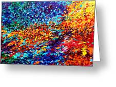 Composition # 5. Series Abstract Sunsets Greeting Card