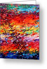 Composition # 6. Series Abstract Sunsets Greeting Card