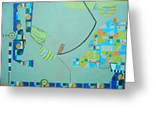 Composition II-07 Greeting Card