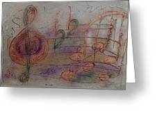 Composition In B Flat Greeting Card
