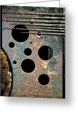 Composition With Holes And Spikes Greeting Card