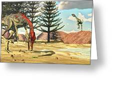 Compsognathus Dinosaur Attempts To Eat Greeting Card
