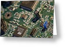 Computer Motherboard Greeting Card